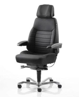 chaise-executive-tissu-noir